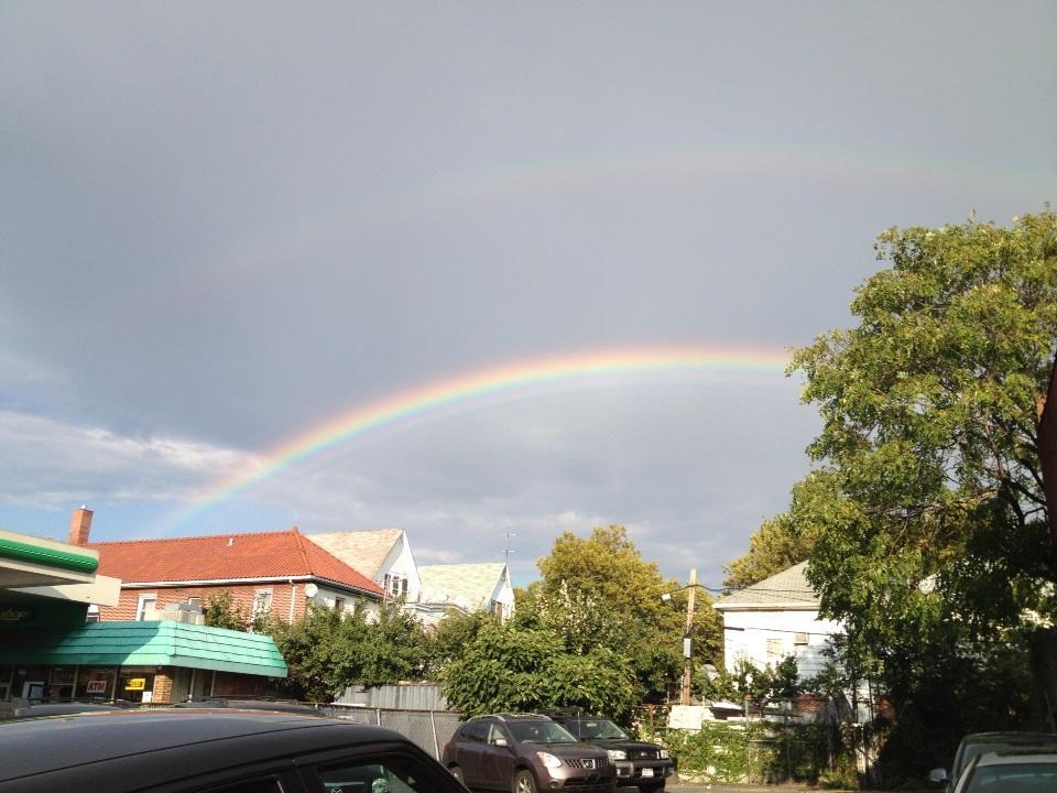 Brooklyn rainbow.  Rainbows. http://t.co/OsUTnQd9