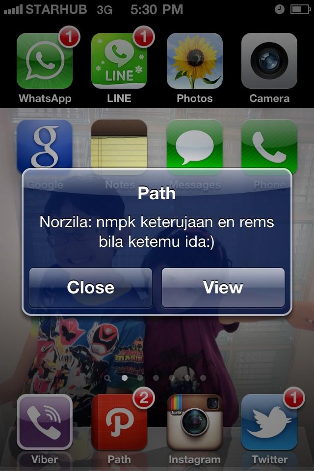 @norzila_daud ida dpt notification dr akak.. Akak buat ida tershunyum syunyum! :)) http://t.co/HyyKfiVs