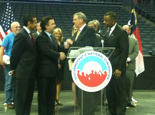 The keys have officially been handed over to the @DemConvention! 50 days until showtime. #DNC2012 http://t.co/ASw6dwMJ