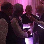 PM @narendramodi meets Nitish Kumar at wedding of Lalu's daughter & Mulayam's grand nephew http://t.co/UOpSQvKXNu http://t.co/XFHrS9zsnF
