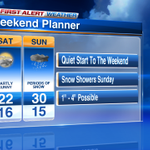 Weekend plans? Check out your forecast: #cold & some #snow (most snow will fall south of #chicago) Enjoy! http://t.co/s3YixIpK5g