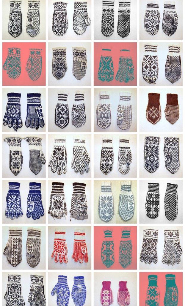 ノルウェーのニットデザイナー、Annemor Sundbo の古いニット手袋のコレクション、素晴らしい。https://t.co/m1fJlI02pb http://t.co/IO2CGp3NGC