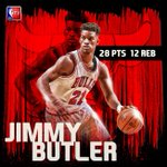 Without Derrick Rose, @JimmyButler stepped up big for the @ChicagoBulls in a win. http://t.co/w1eSYzSMsI