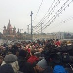 Moscow right now. March of protest; March of mourning. Opposition and journalists must be protected. #BorisNemtsov http://t.co/AbDSvRcPo8