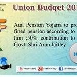 "अटल पेंशन योजना- Shri @arunjaitley #बजट2015 via @MIB_India #Budget2015 #SabkaBudget http://t.co/bzWbbwlhi7"""