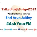 #AskYourFM Shri @arunjaitley your questions on #Budget2015 and watch the event LIVE on http://t.co/tK13P2zQKF at 6pm. http://t.co/OjDV89ANXU