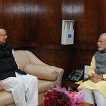 Chhattisgarh CM @drramansingh met PM @narendramodi. http://t.co/uJ1wScibY7