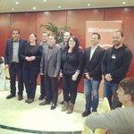Con otros compañeros también alcaldables del Baix Llobregat en la cena de aniversario de @Cs_Vallirana @CiudadanosCs http://t.co/ognPBVBRCl