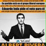 #UTNlapizarradeAlbert Si todavía no sabéis quien es Albert Rivera aquí os dejo algo => http://t.co/VfUyRggEuQ Es la marca blanca del #PP
