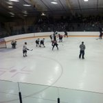 More hockey! @UWECblugolds and @UWRFFALCONS mini game now in sudden death tied 1-1 http://t.co/6ok7F8eriX