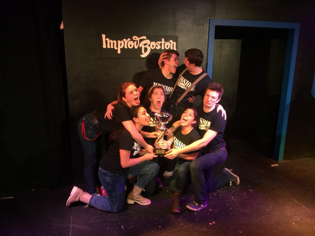 Congrats to @UMassAmherst @MIMPROVable on winning the 2015 College Comedy Festival at ImprovBoston! http://t.co/9VZUjTy0UB