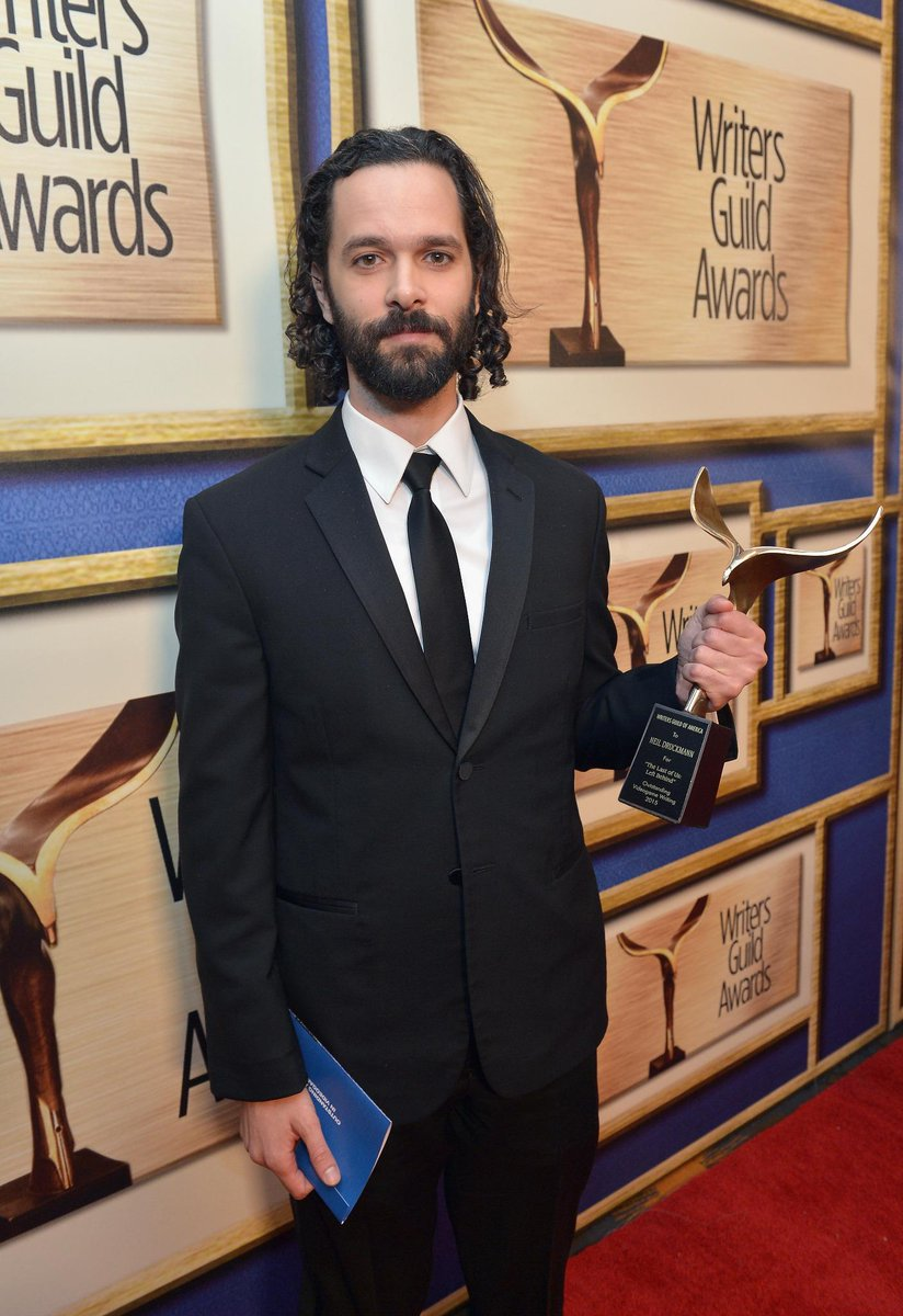 2015 #WritersGuildAwards Videogame winner @Neil_Druckmann #TheLastofUs: Left Behind at @WGAWest's L.A. ceremony http://t.co/QIHuvVkCCP
