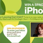Win an iPhone6! Follow @RTERnaG & @rte and RT #ArdteistRnaG. Worried about Leaving Cert Irish? Check out the slide. http://t.co/sP5UGCvosq