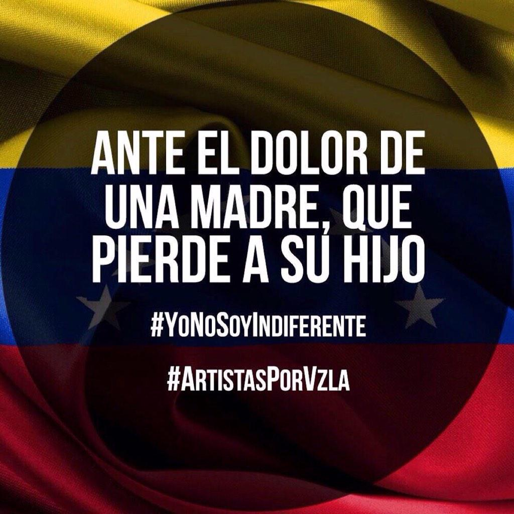 Nadie puede serlo #YoNoSoyIndiferente #ArtistasPorVzla  #VenezuelaNeedsYorHelp #IamNotIndifferent RT http://t.co/J83j818TO9