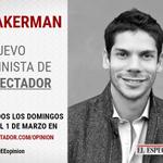 A partir de este domingo, @yohirakerman será el nuevo columnista de @elespectador http://t.co/hmGrW0165R http://t.co/73eWLuoAmF