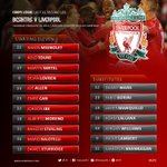 Tonight's confirmed #LFC line-up and subs in full on our matchday graphic http://t.co/nE8RLZ9dfQ