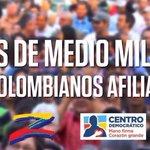 Más de medio millón de colombianos afiliados a @CeDemocratico y dicen que @AlvaroUribeVel está solo http://t.co/aorpwxEpjf