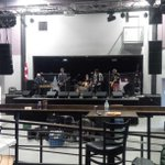 Watching the sound check for @TheTrews at @TheVenuePtbo in @Ptbo_Canada...pretty friggin awesome!! http://t.co/3hIBb3DXa9