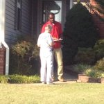 One of our YDs, Bryan, talking with a voter today. PTCYD had a great time canvassing in Jonesboro! #ARpx http://t.co/JHW3WEYfHz
