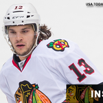 Daniel Carcillo leaves Blues game with injury. @TramyersCSN has more details: http://t.co/ugTcQKGjz6 #HawksTalk http://t.co/F2femnZVf8