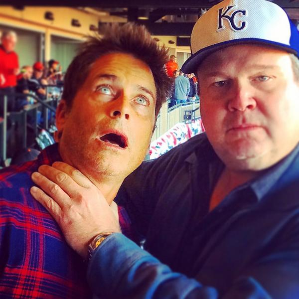 Kansas City fans. I ran into @RobLowe and I shook throats with him. It's all good now. He's a nice fella. http://t.co/VB0UrQw98J