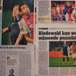 De kranten na #ajagae: 'Riedewald, een ruwe Rijkaard.' Hoe vond jij de Ajacied spelen? #Ajax http://t.co/y1YVYjJDpo http://t.co/Kq9EkCe3bA