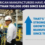 RT @WhiteHouse: Share the news: Our manufacturers are adding jobs at the fastest pace since the 1990s. #MadeInAmerica