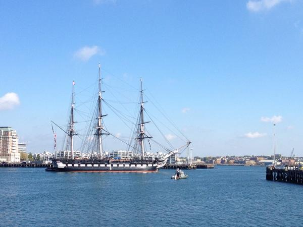 Always amazing to see the @ussconstitution underway on Boston Harbor! @universalhub @bostoninsider http://t.co/9dtQmV2vIH