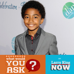 "Welcoming @mrbabyboogaloo to #LarryKingNow to talk about @black_ishABC on our first ""kids-feature"" show. Questions?"