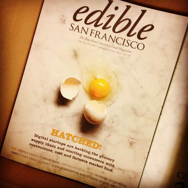 Newly hatched: Get your free copy of the fall @EdibleSF tomorrow at the CUESA Info Booth! w/ @goodeggs http://t.co/yoVakekIbA
