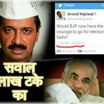 "RT @sanjeev_goyal: Poster-""सवाल लाख टके का""- Once again @ArvindKejriwal challenges @BJP4India... Now do @narendramodi hv guts to face ? http://t.co/XZyrC59llN"