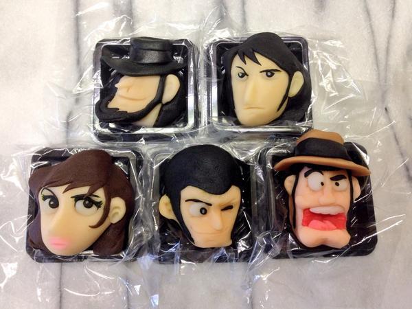 るぱーんざさー♪るぱーんざさ〜♪#ルパン三世 #和菓子で作ってみたZ