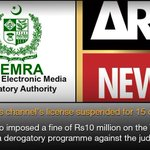 #ARYNews channel's license suspended for 15 days   #Pakistan #PEMRA   http://t.co/8z1pJsuXfC http://t.co/izBp5cWBiS
