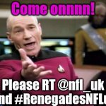 @SirPatStew come oooon!!! You know you want to support a Huddersfield Uni graduate! Thanks @nfl_uk #RenegadesNFLuk http://t.co/D6xP403XHa
