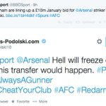 RT @BBCSporf: QUALITY: Lukas Podolski responds to speculation that he will join Spurs this January. http://t.co/1A1BF4lTL5