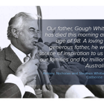 Former prime minister Gough Whitlam has died at age 98 http://t.co/rBUGlRuJf6