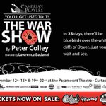"""RT @thewalleye: Tickets are now on sale for Cambrian Players """"The War Show,"""" which opens in 23 days #tbay #theatre http://t.co/LCtYLP70LG"""