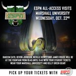 ATTENTION ALL @MARSHALLU STUDENTS! Come to the fountain this Wednesday to get your student tickets! #ProtectTheM http://t.co/XkyX87yk1G