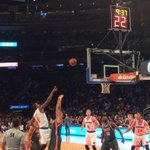 So good to be here ! Allez les Knicks ! Go Knicks ! @nyknicks http://t.co/iRSbN3gdLw