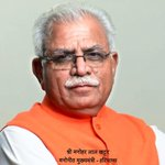 RT @bjpsamvad: Congratulations @bjpmlal - the CM designate of Haryana ! http://t.co/Sy2WmKcv6P