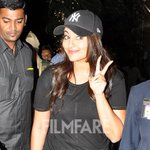 Spotted:   Sonakshi Sinha at the airport  Check out her all black attire: http://t.co/JFl19DdIoJ