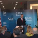 Hearing from Dr. Goodnight at @SASsoftware building Q opening! http://t.co/ugAOTzI3yA