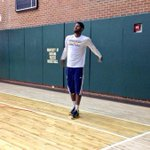 RT @Pacers: ICYMI yesterday, @Yg_Trece was shooting around yesterday on the practice court. VIDEO: http://t.co/JakK6dFkKw http://t.co/jI885COOpi