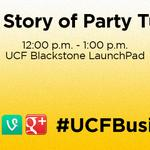 Today at noon in @ucflaunchpad, @YoungBrenton tells the story of how @PartyTutor started. #ucfbusiness #ucf http://t.co/MAdR7mnKXa
