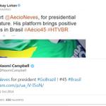 Apoio de Lindsay Lohan e Naomi Campbell a Aécio Neves é ação de marketing http://t.co/mDoiqJmRlg http://t.co/ABwux8R1fB