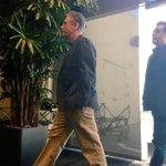 Jon Stewart and @maziarbahari walking tall at Twitter HQ for #RosewaterChat http://t.co/tZH4uYOwt1