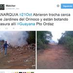 via @oliviadelvfr: Reporte vía Watcher_Ven ,siempre bien informado. Trocha para nuevo vertedero basura http://t.co/jG1mmUYThI