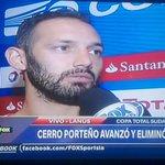 """Barreto #CerroPorteño """"El Gol nos trajo la tranquilidad. Vamos a jugar los 2 torneos. En el Clausura somos punteros"""" http://t.co/cCfjeWdD0a"""