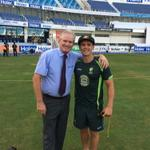 What an emotional experience presenting Test cap #439 to Steve OKeefe ! Good luck mate! http://t.co/ptcOyuVPkQ