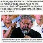 """Lula cobra em dircurso:""""Onde estava Aécio quando #Dilma foi presa?"""".Ele só tinha 7 anos Sr.Lula .Essa foi demais.rsss http://t.co/0nBThaEyH7"""
